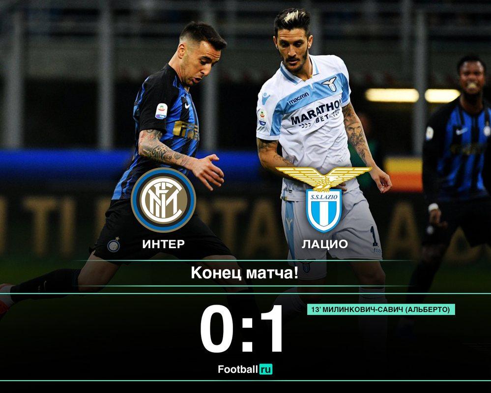 Интер - Лацио 0:1