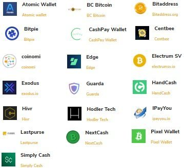 Полный список кошельков для Bitcoin SV