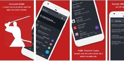 Мобильное приложение Samourai Wallet