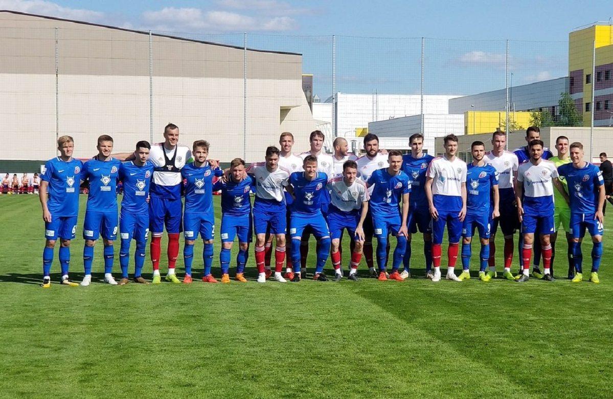 сборная России перед матчем с Чертаново