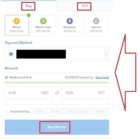 Ордер на покупку/продажу криптовалюты