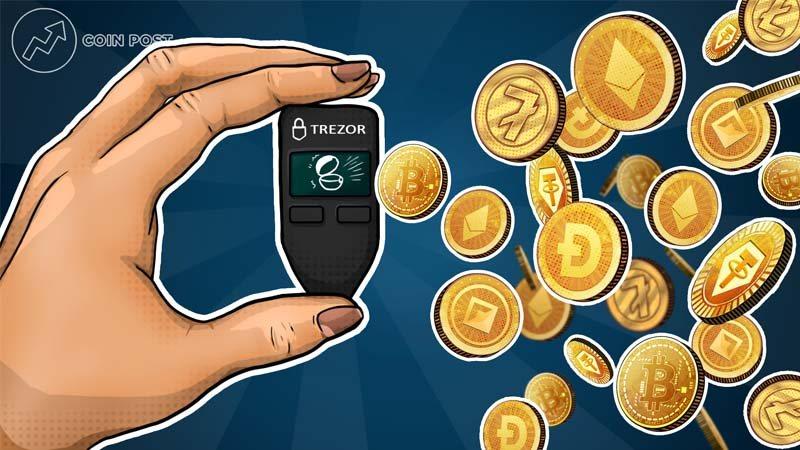 Хранение криптовалюты на кошельке  Trezor