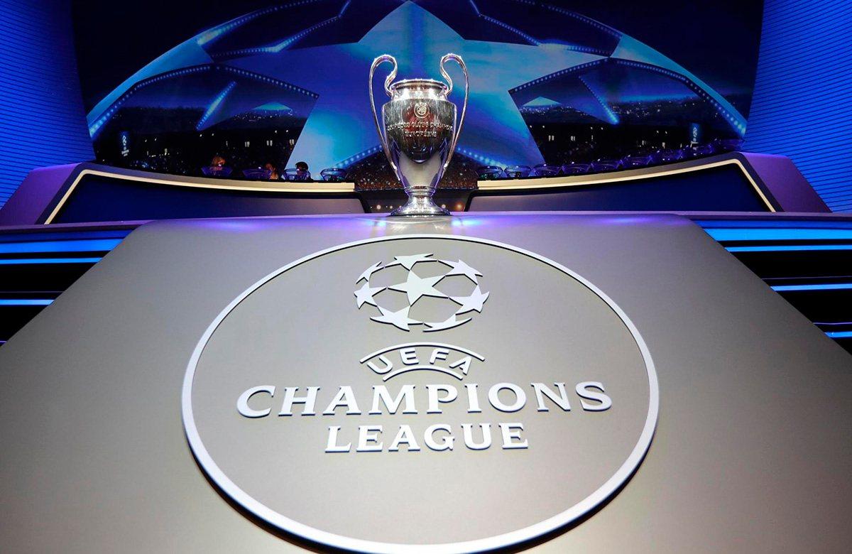 Зал проведения жеребьевки Лиги чемпионов
