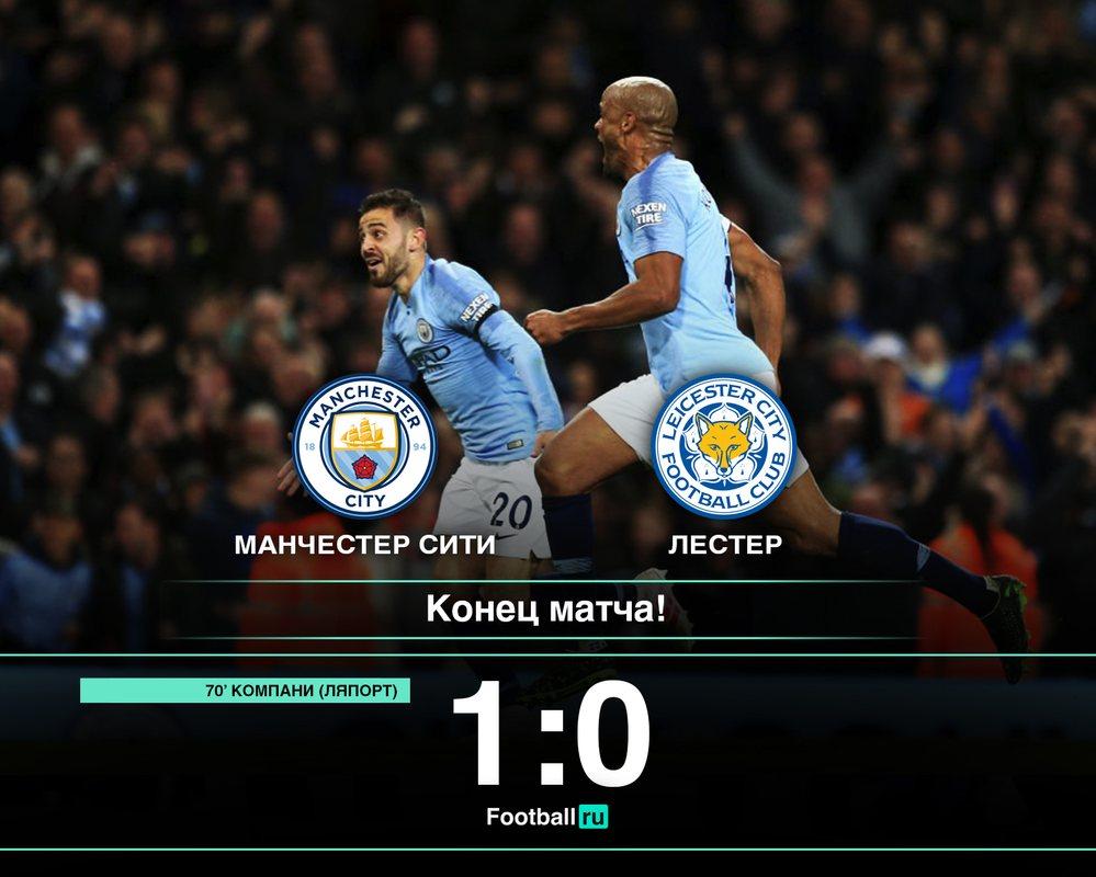 Манчестер Сити - Лестер, 1:0