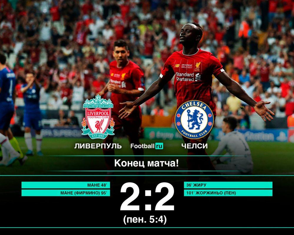 Ливерпуль обыграл Челси по пенальти