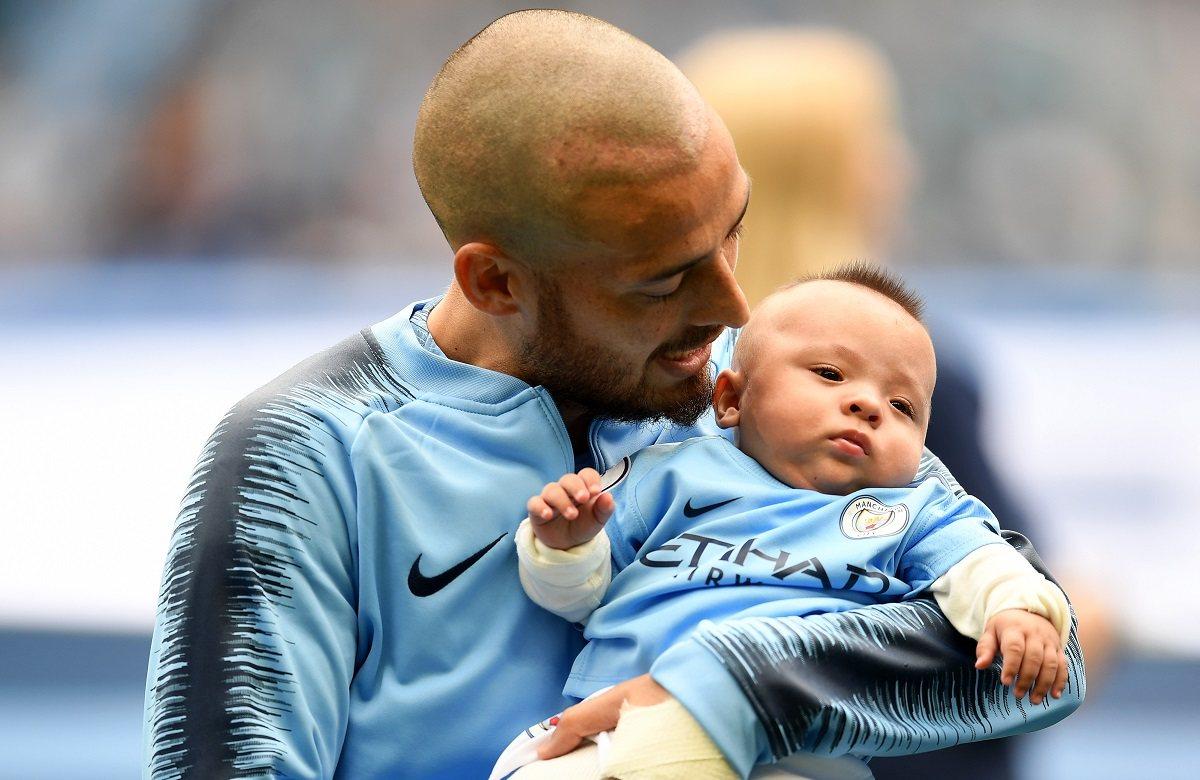Давид Сильва с сыном