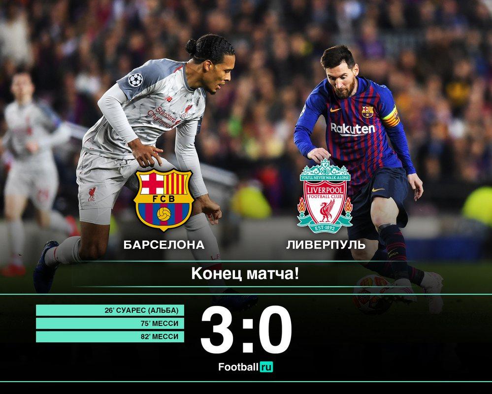 Барселона - Ливерпуль, 3:0
