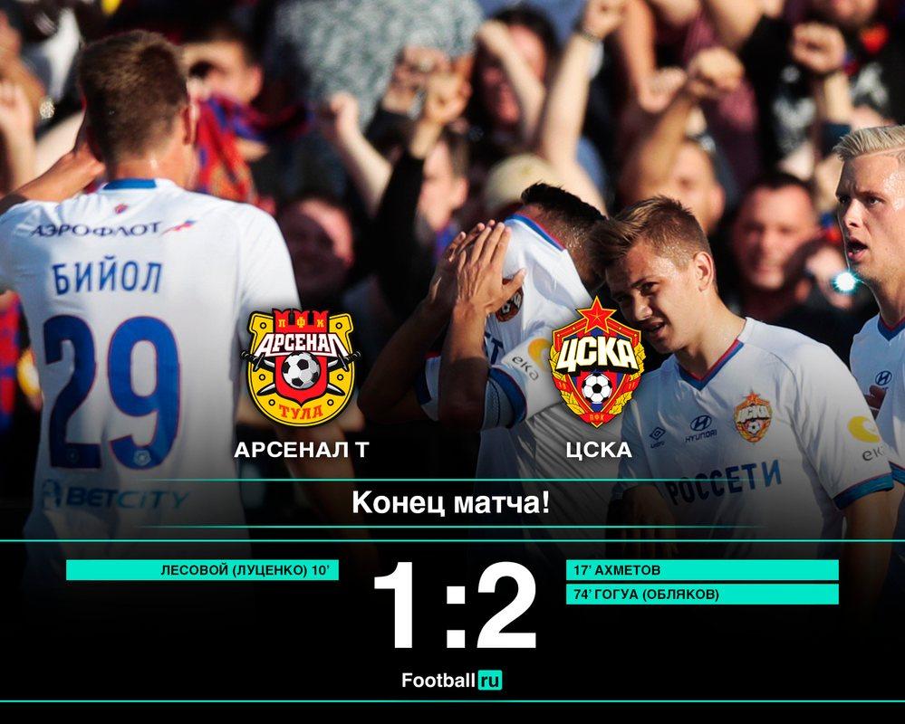 ЦСКА обыграл тульский Арсенал