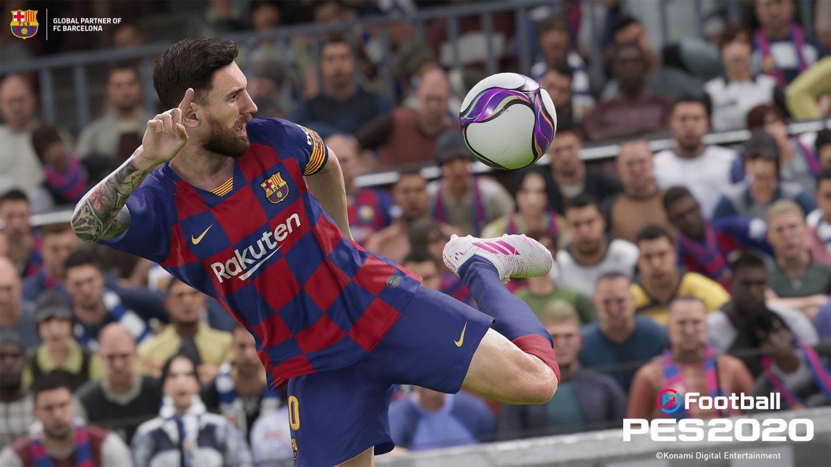 В PES 20 улучшили обработку мяча
