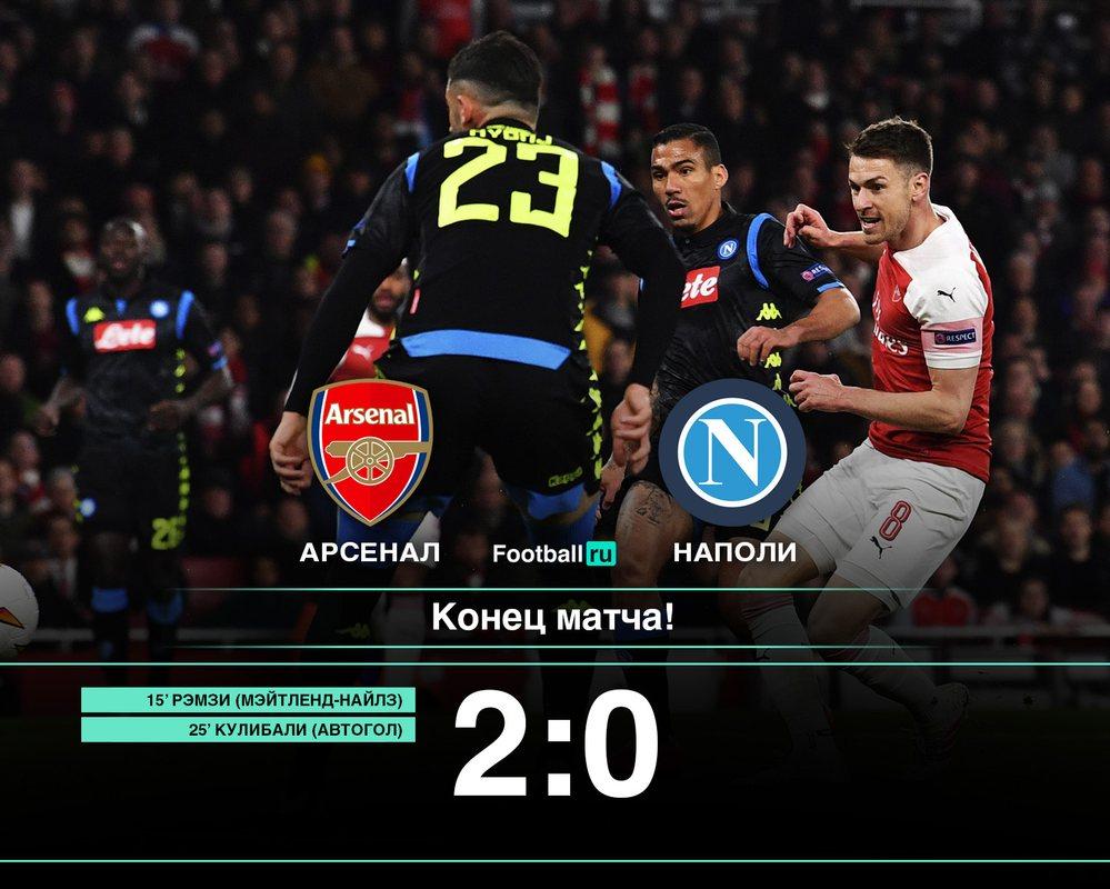 Арсенал 2:0 Наполи