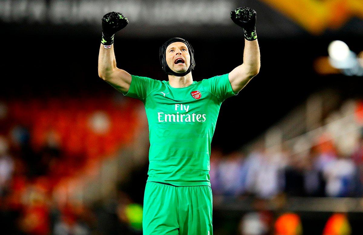 Петр Чех пробился с Арсеналом в финал Лиги Европы