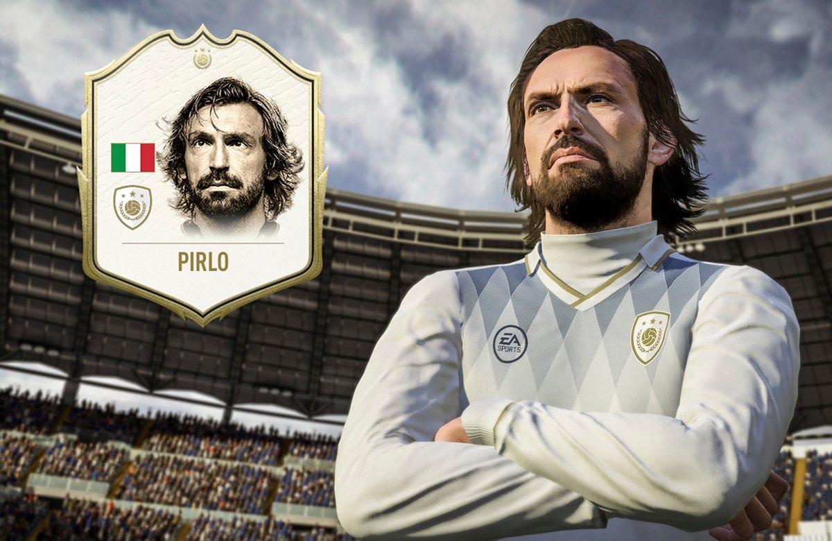 Карточка Андреа Пирло будет доступна в FIFA 20