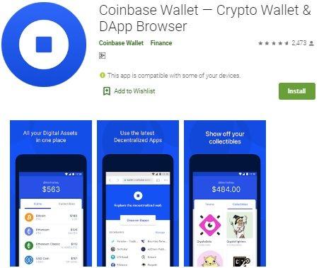 Мобильное приложение Coinbase Wallet