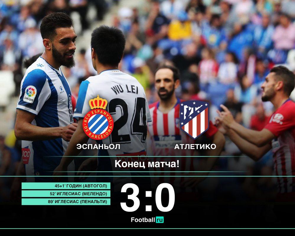 Эспаньол - Атлетико, 3:0