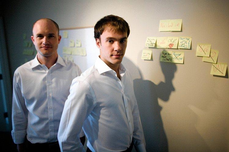 Основатели Coinbase – Брайан Армстронг и Фред Эрсам