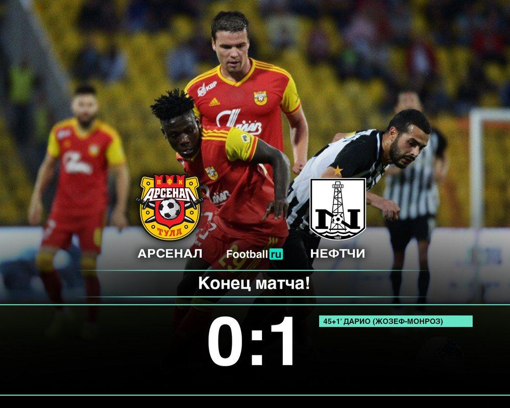 Тульский Арсенал уступил в матче Лиги Европы 0:1