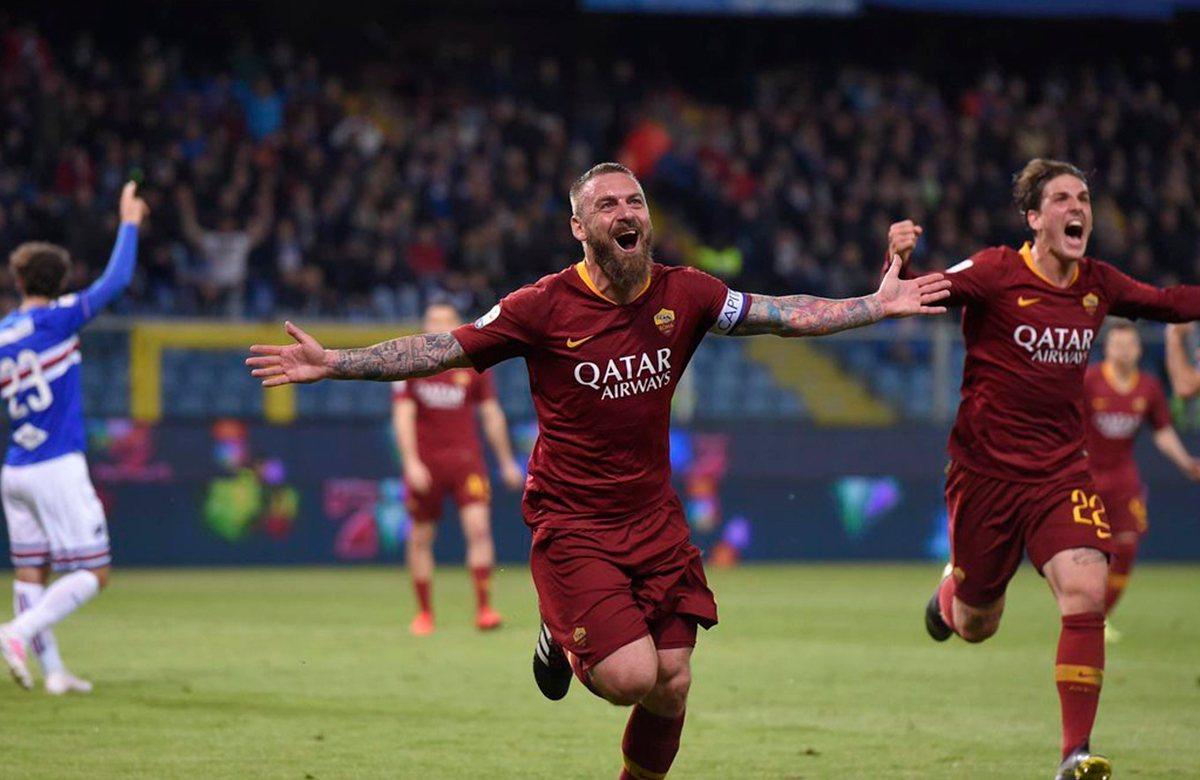 Даниэле Де Росси после победного гола Сампдории
