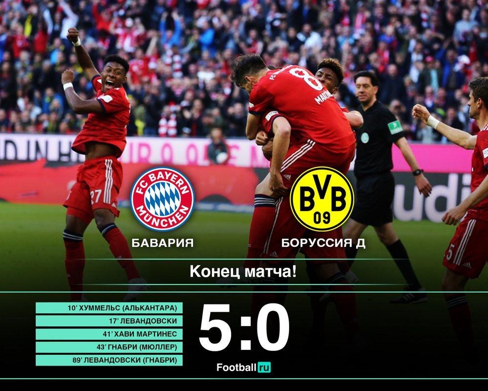 Бавария - Боруссия Д 5:0
