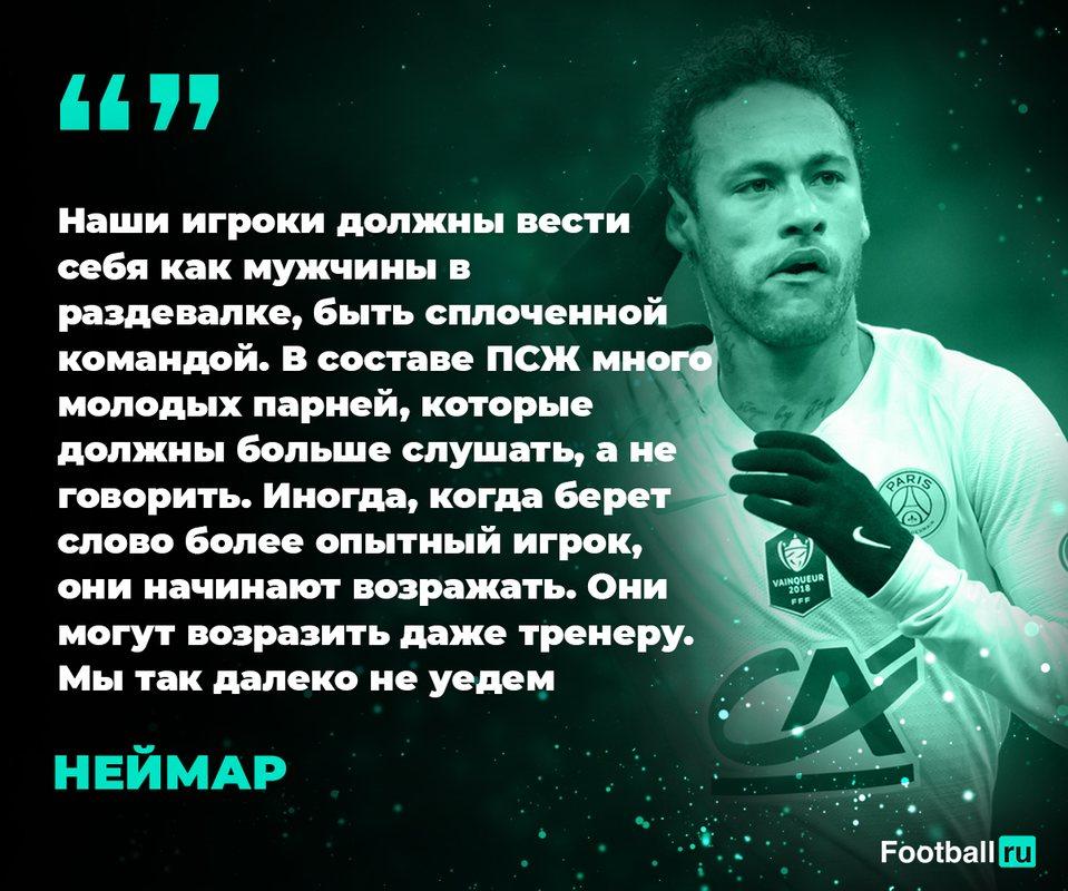 Неймар недоволен молодыми футболистами ПСЖ