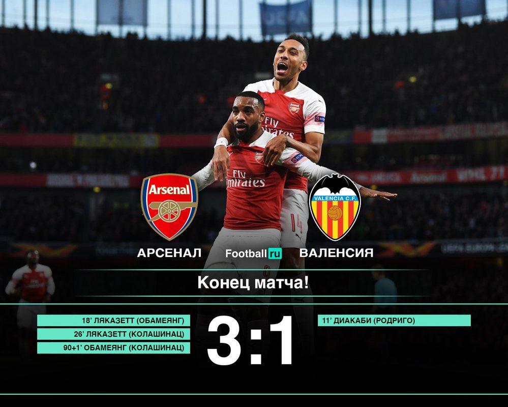 Арсенал 3:1 Валенсия