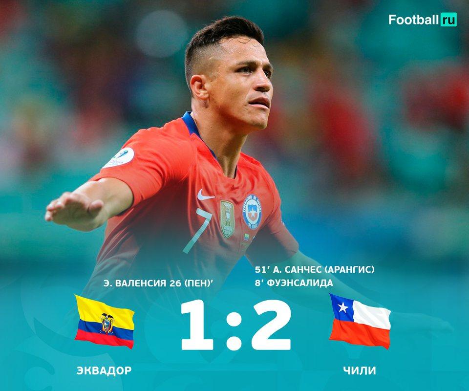 Гол Алексиса вывел Чили в плей-офф Копа Америка