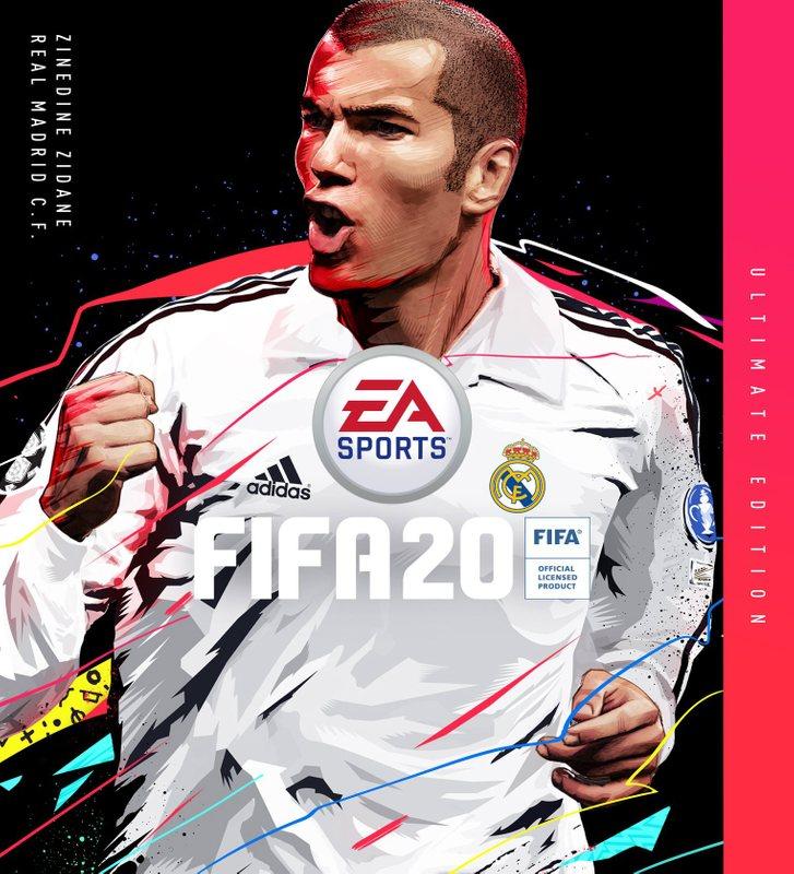 Обложка FIFA 20 с Зиданом