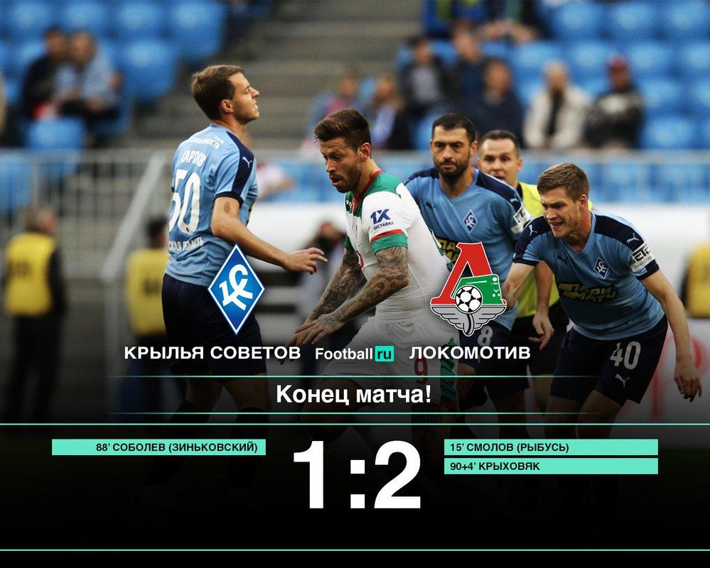 Локомотив со счетом 2:1 обыграл Крылья Советов