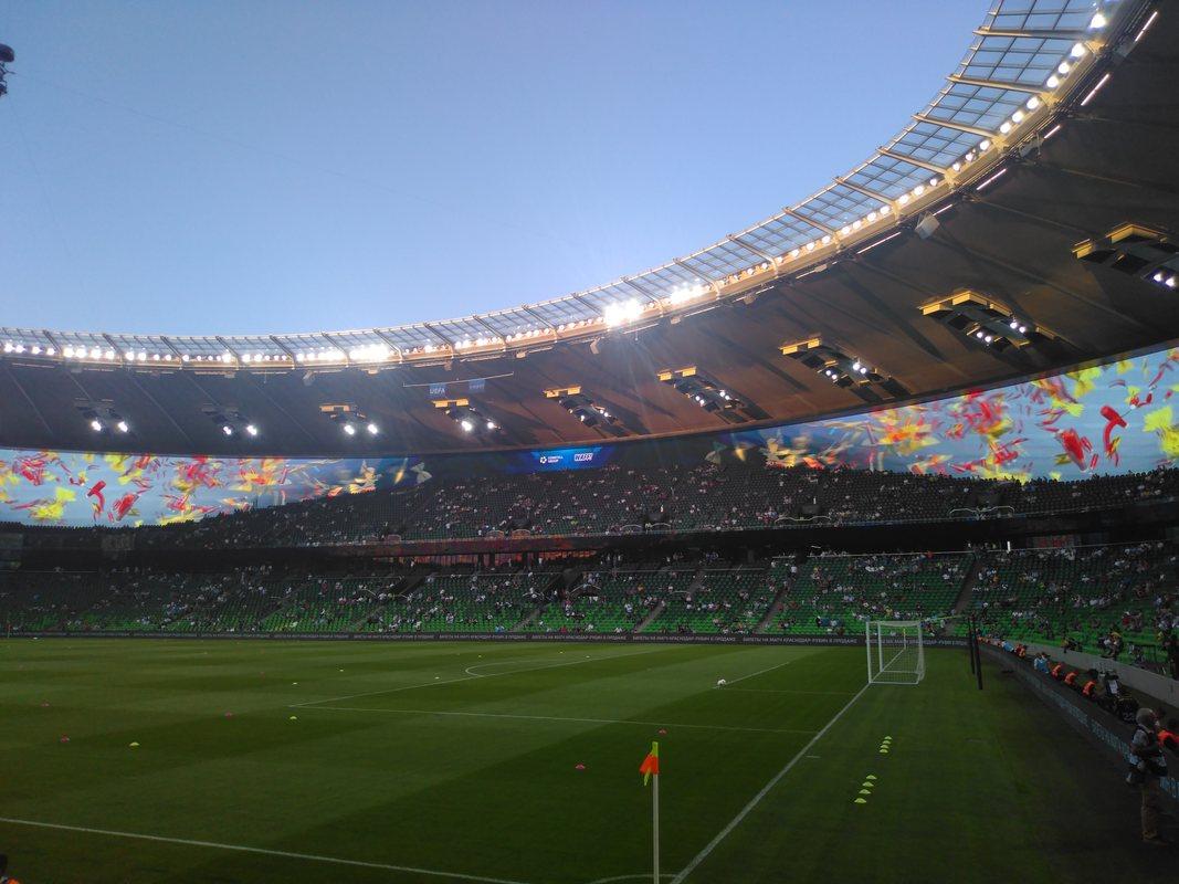 Вид с трибуны стадиона Кранодара