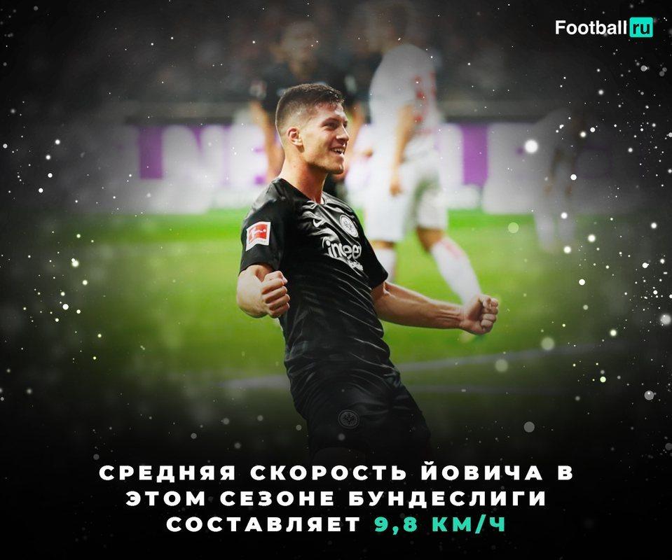 Средняя скорость Йовича - 9,8 км/ч