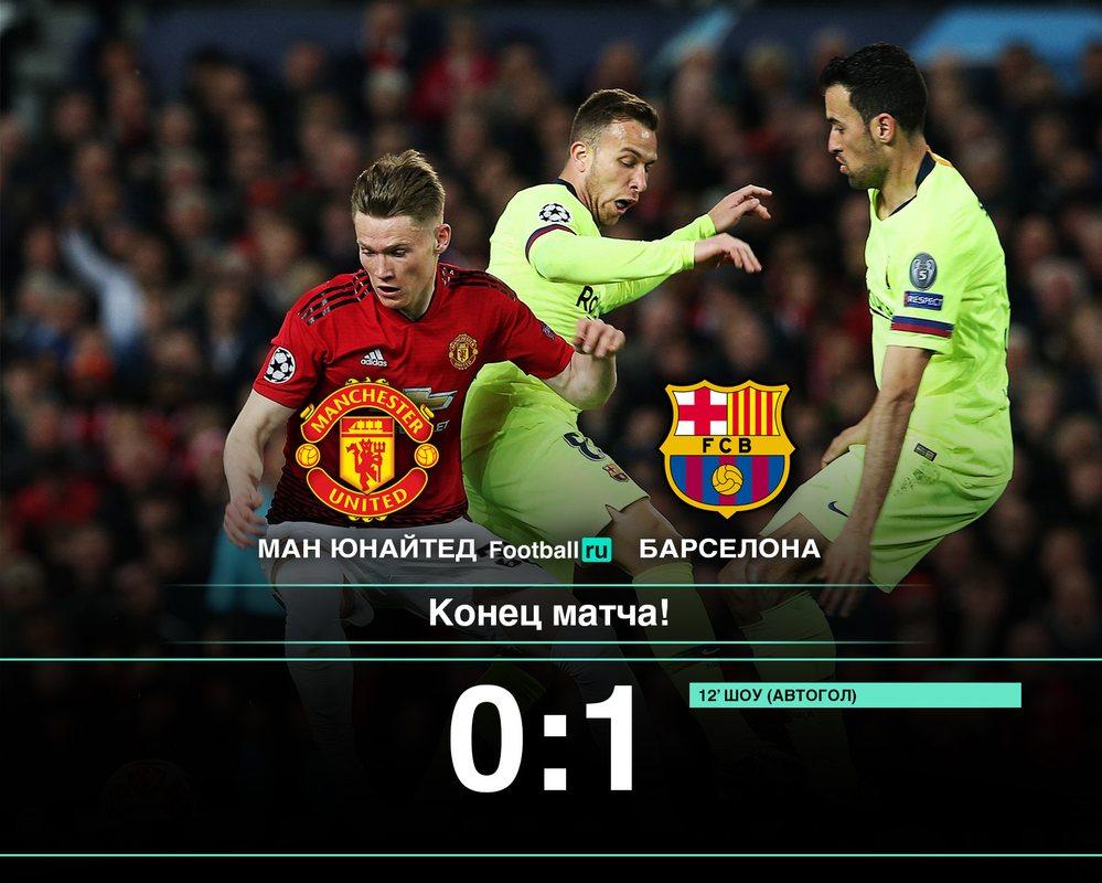 Манчестер Юнайтед 0:1 Барселона