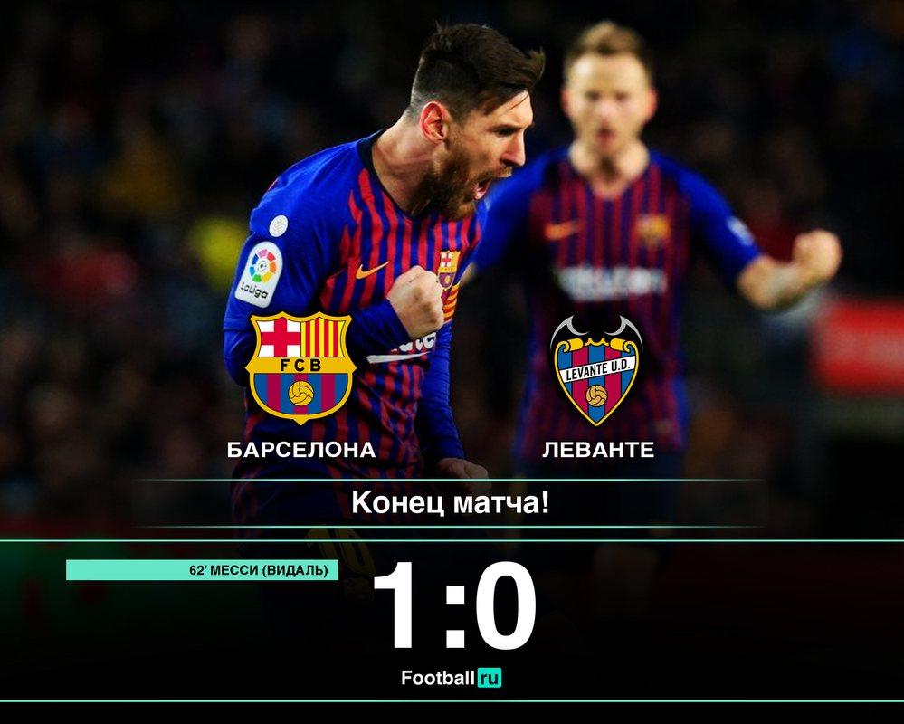 Барселона - Леванте, 1:0