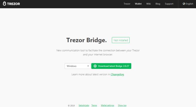 Страница загрузки приложения // Источник: trezor.io