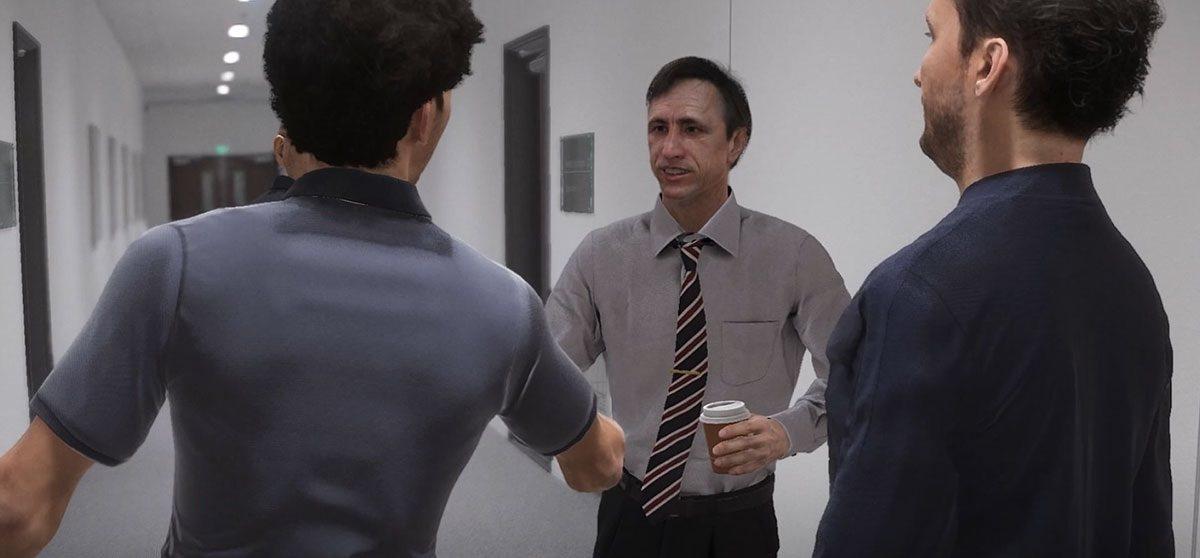 Кройф в качестве тренера выглядит странно