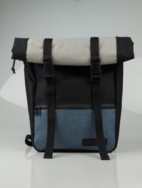 Vegan Backpack  Indigo Blue-Gray