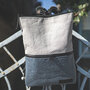 Vegan Backpack  Gray-Blue