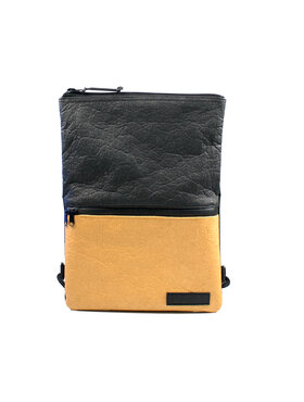 Vegan Backpack  Gold-Black