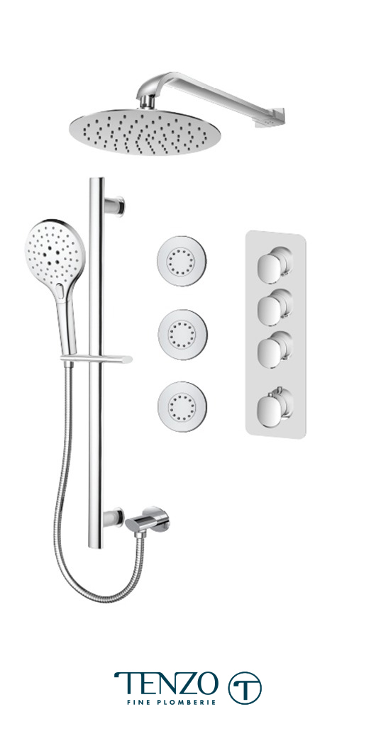 FLT43-572168-CR - Shower kit, 3 functions