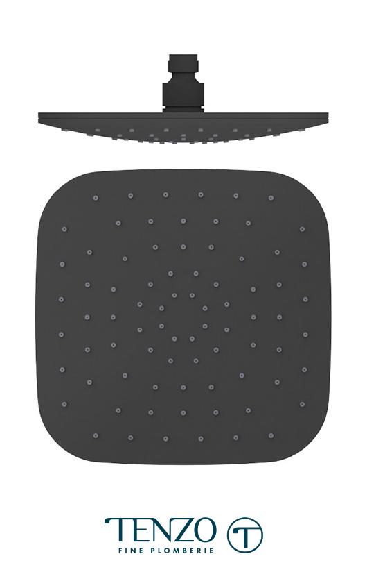 PVTS-09-Q-MB - Shwr head square 23x23cm [9in] matte black