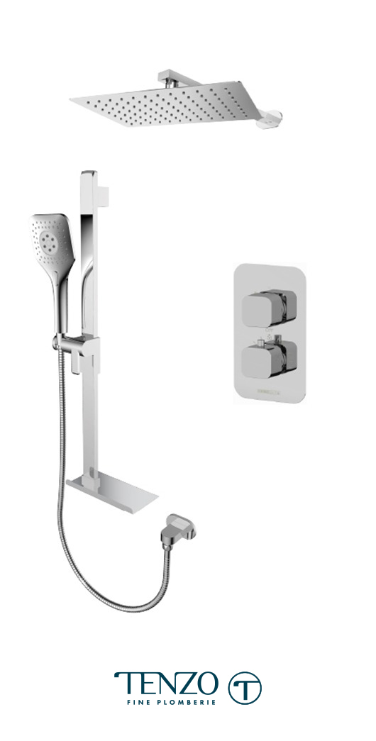 QUT32-20310-CR - Ensemble de douche T-Box, 2 fonctions, Quantum