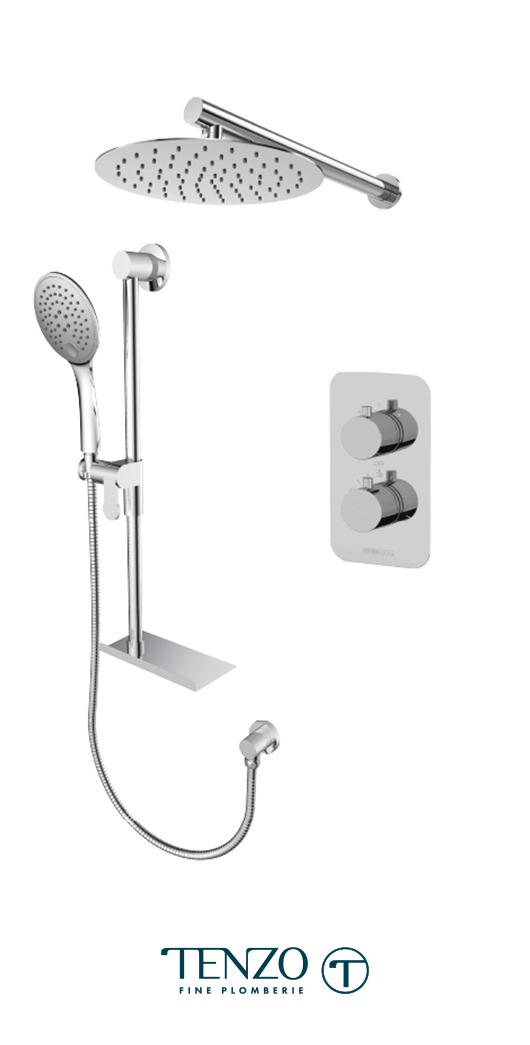 RUT32-20311-CR - Ensemble de douche T-Box, 2 fonctions, Rundo