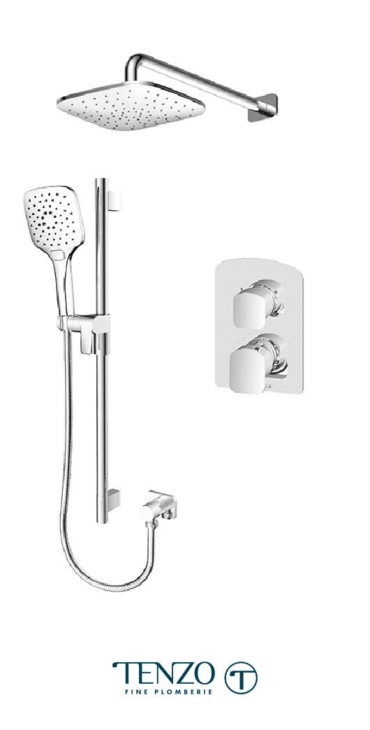 DEPB32-20114-CR - Shower kit, 2 functions