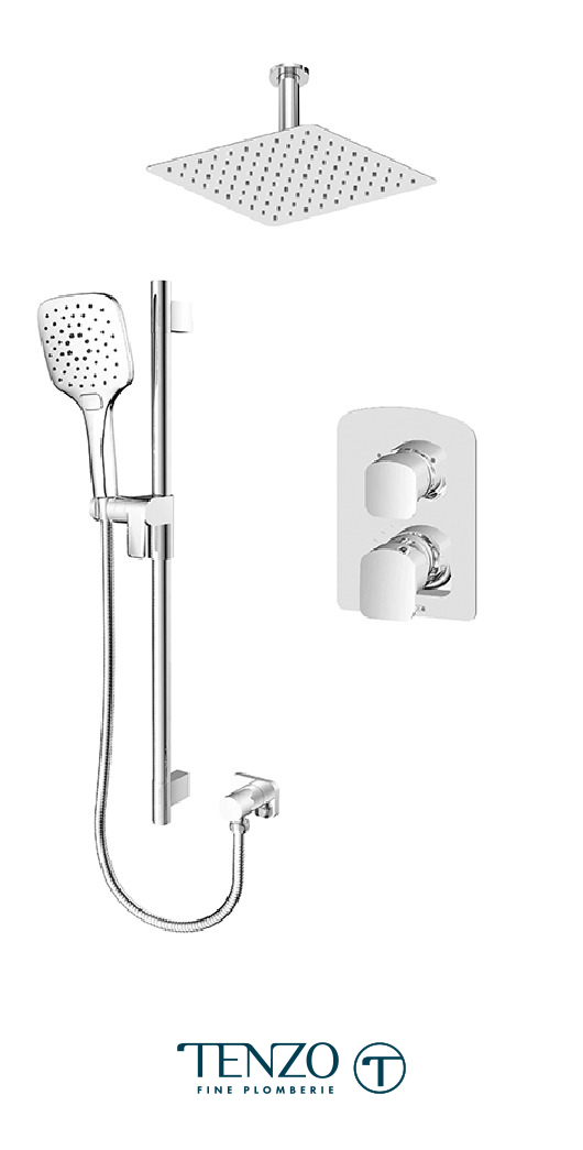 DEPB32-21131-CR - Ensemble de douche T-Box, 2 fonctions, Delano