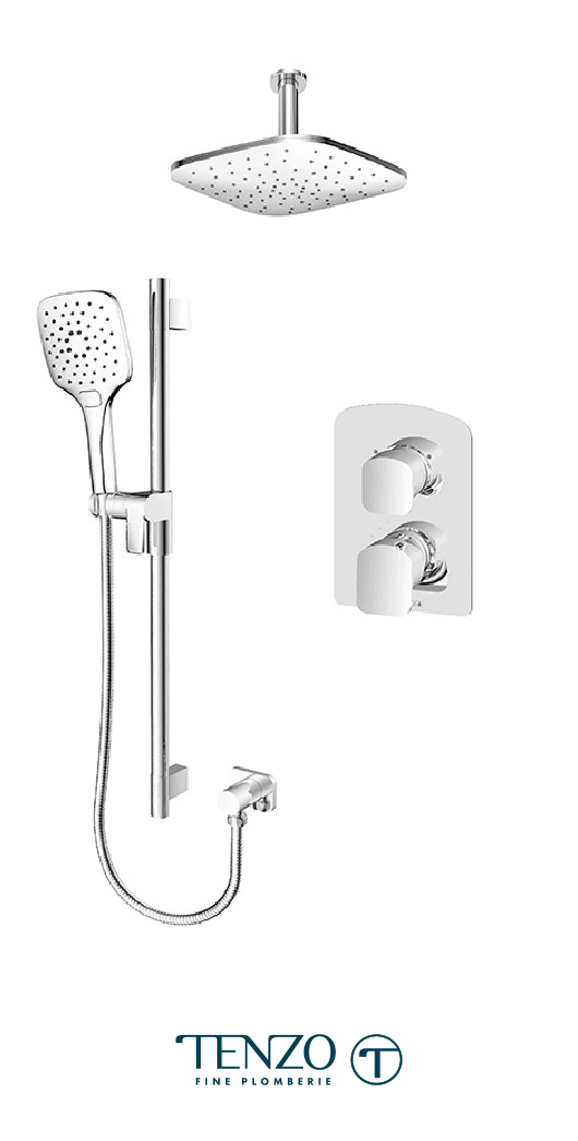 DEPB32-21134-CR - Ensemble de douche T-Box, 2 fonctions, Delano