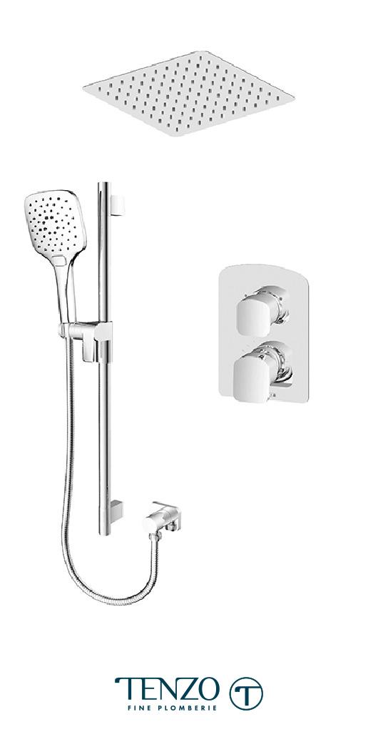 DEPB32-21164-CR - Shower kit, 2 functions