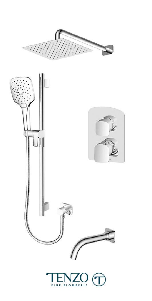 DEPB33-501115-CR - Shower kit, 3 functions