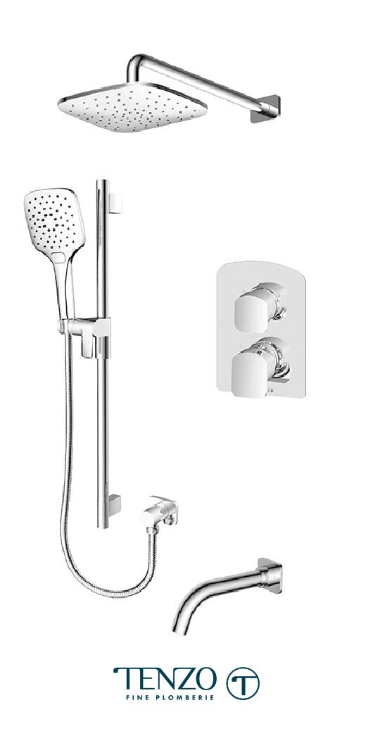 DEPB33-501145-CR - Shower kit, 3 functions