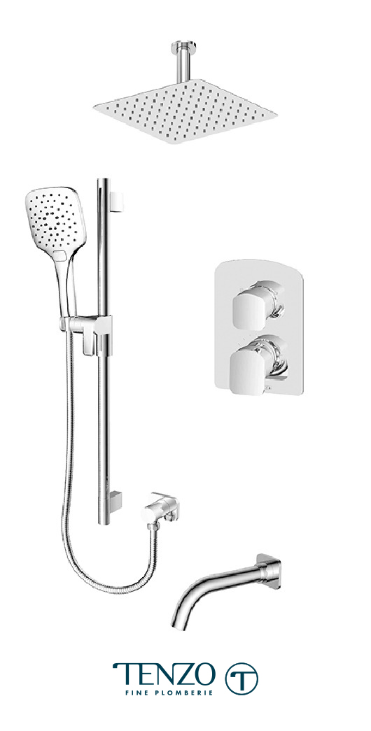 DEPB33-511315-CR - Shower kit, 3 functions