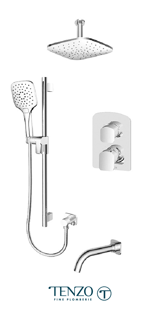 DEPB33-511345-CR - Ensemble de douche T-Box, 3 fonctions, Delano