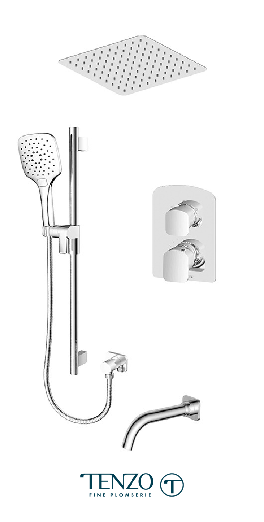 DEPB33-511645-CR - Shower kit, 3 functions