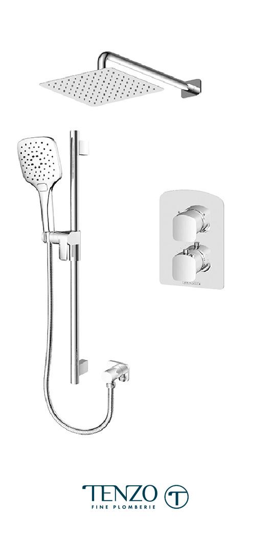 DET32-20111-CR - Shower kit, 2 functions